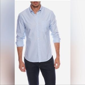 Brooks Brothers Button Front Blue Polo Shirt A1066